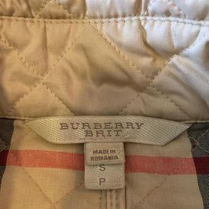 Burberry quilted diamond jacket size S